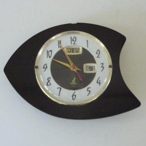 horloge murale formica noire jaz