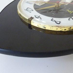 horloge murale formica noire jaz transistor
