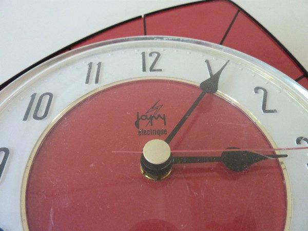 horloge murale formica rouge japy electrique