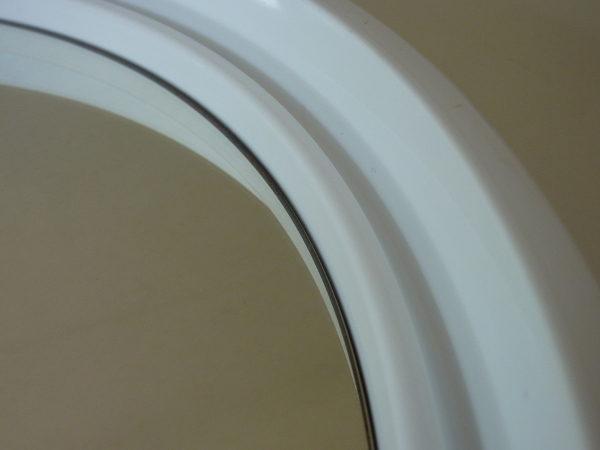 miroir rond blanc vintage années 70