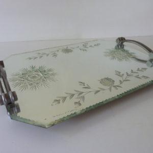 plateau miroir biseauté art déco années 40-50