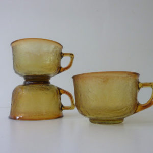 3 tasses Sierra ambre arcopal
