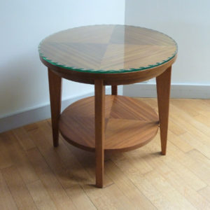 Table basse ronde années 50