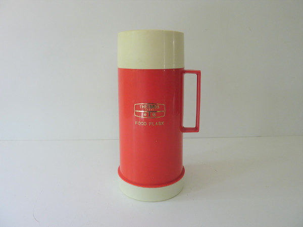 Thermos brand Food Flask rouge vintage