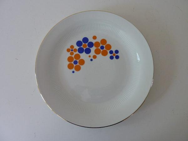 assiettes plates à pois German Democratic Republic