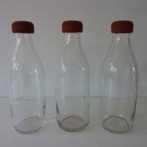 bouteilles de lait anciennes
