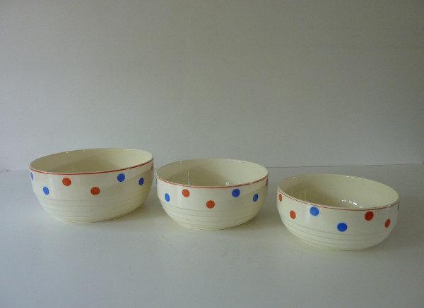 ensemble saladiers porcelaine Badonviller France