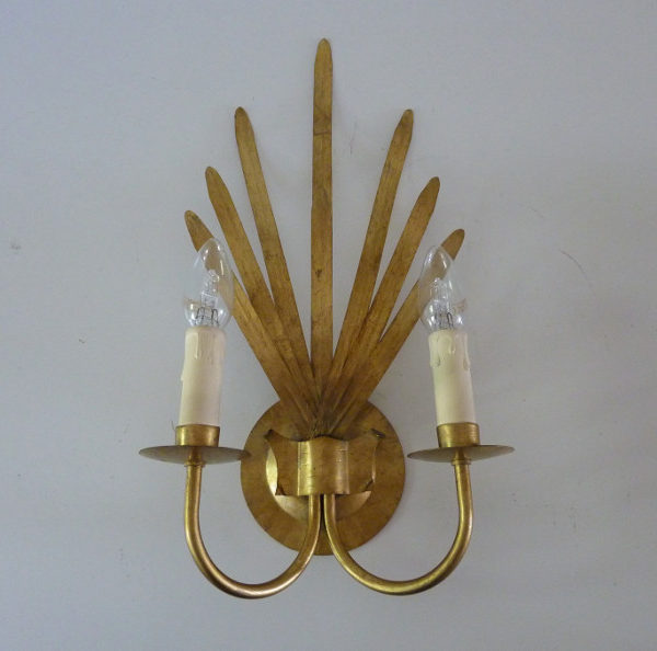 Paire d'appliques dorées maison Florart