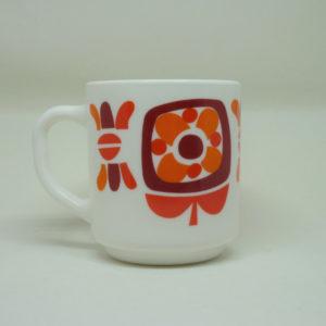 Mug Mobil orange et marron