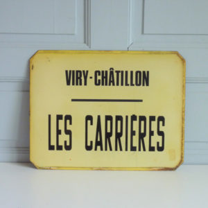 ancienne plaque emaillee viry chatillon les carrieres