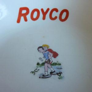 assiette à soupe ancienne publicitaire royco Digoin & Sarreguemines