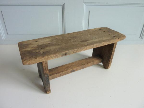 Mini tabouret bois repose-pied marchepied ancien