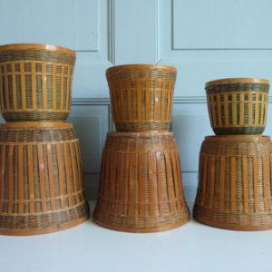 Cache-pots gigognes bambou