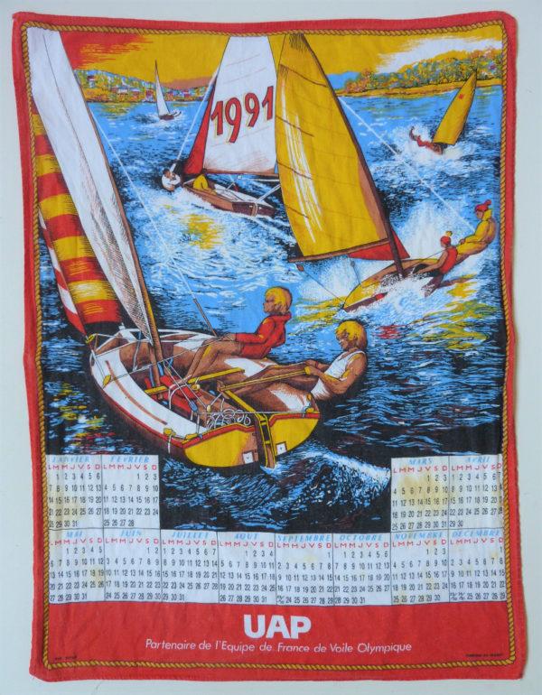 Torchon calendrier 1991