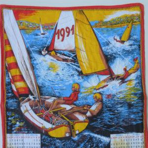 Torchon calendrier 1991 détail