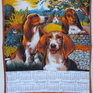 Torchon calendrier 1992