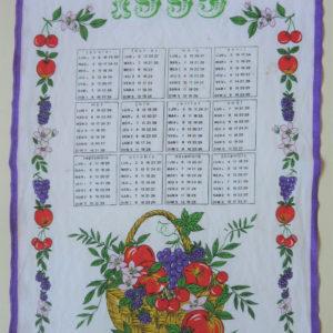 Torchon calendrier 1995