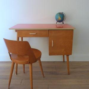 Ensemble bureau et chaise Baumann années 50