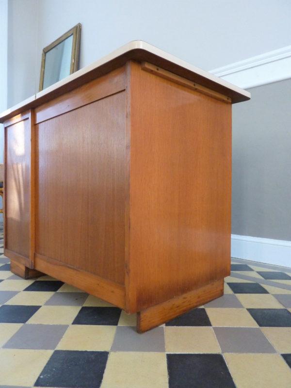 Bureau 5 tiroirs années 50 bois