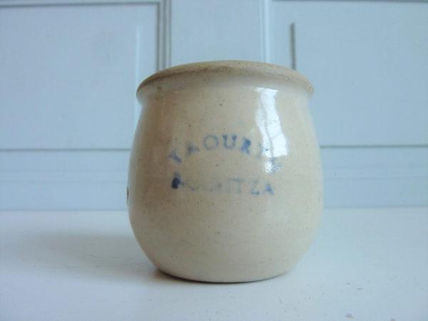 Pot Yaourth Maritza ancien grès céramique