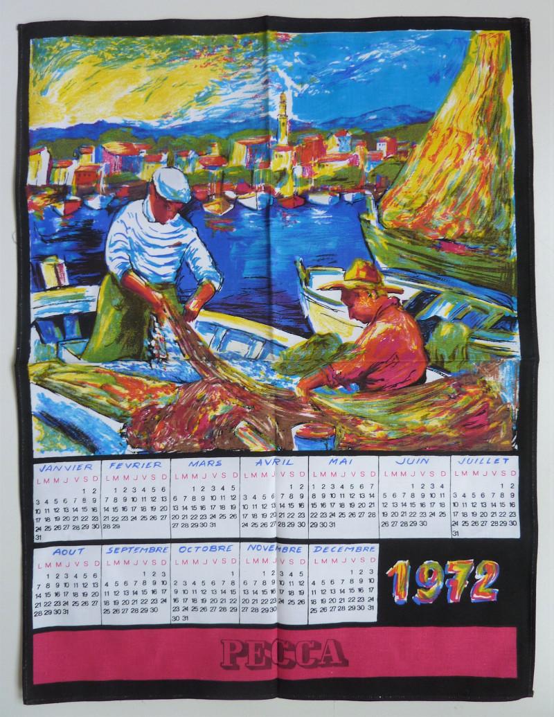 Torchon PECCA 1972 pécheurs
