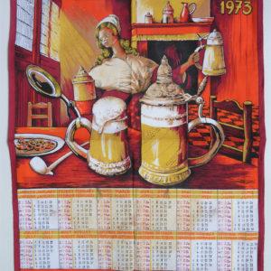 Torchon PECCA 1973 choppes bière