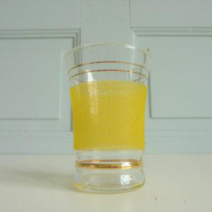 verre ancien givré liserés dorés années 50