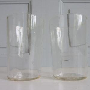2 verres à facettes anciens