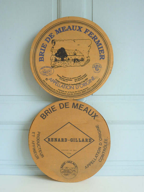 Boites anciennes fromage Brie de Meaux