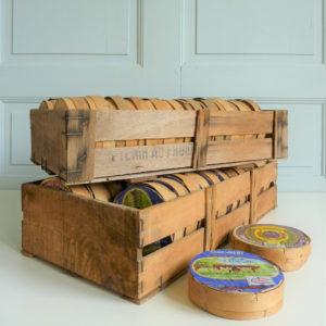 Cagettes anciennes boites de camembert