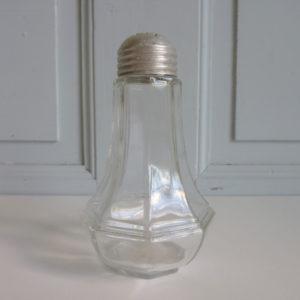 Sucrier verre facette ancien bouchon en fer blanc