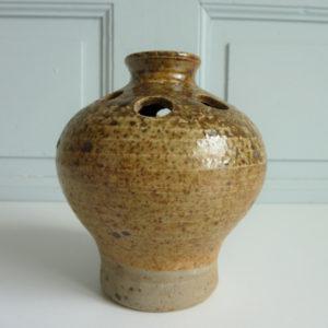 Vase pique fleurs grès