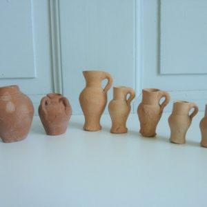 7 miniatures anciennes Grès artisanales