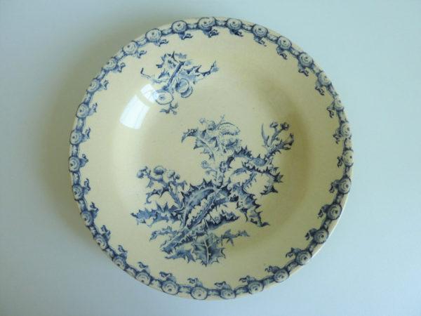 Assiette creuse Chardons Porcelaine opaque de Gien