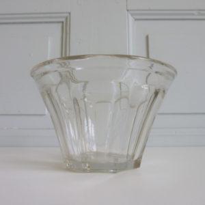 Pot à confiture conique ancien verre soufflé 1